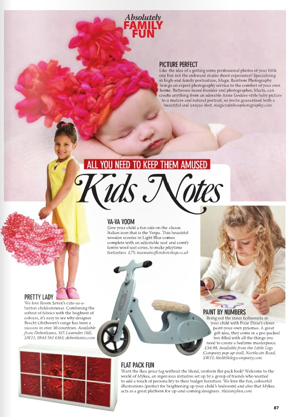 baby photography London in magazine
