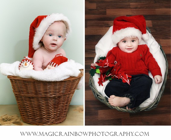 baby portrait photography, themed for christmas