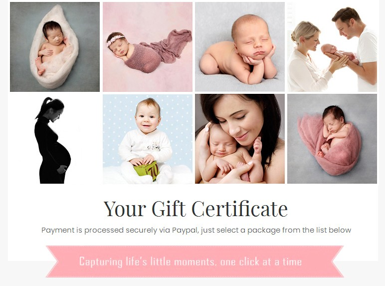 buy baby photoshoot gift voucher